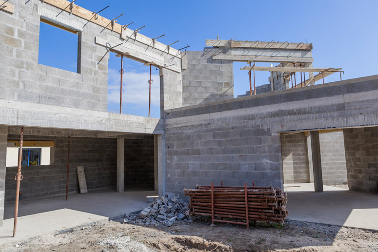 Extension de maison en parpaings
